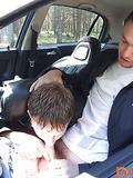 Giving a head in a car