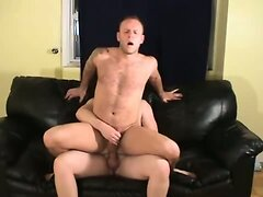 Two cumshots after gay sex