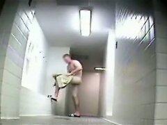 Naked guys in locker room