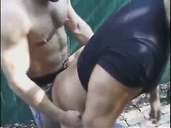 Cop fucks muscular hottie