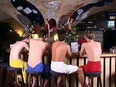 Gay twink fuck in bar