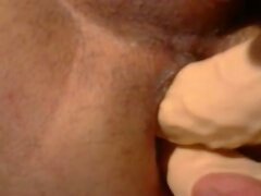 Double dildo anal penetration