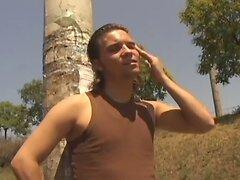 Hardcore bareback gay studs hot outdoor encounter