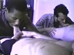 Unstoppable gay cops orgy