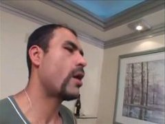 Latin daddy gets his big dick sucked
