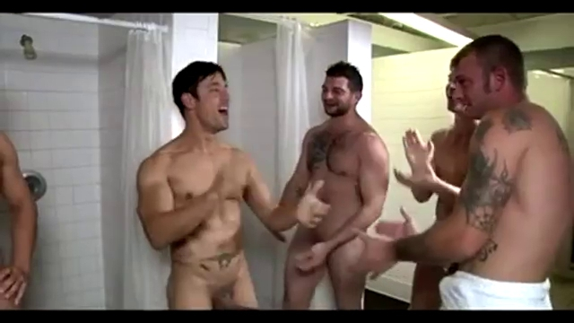 Gay musclemen shower