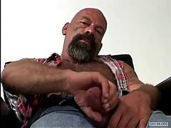 Damn horny daddies masturbate