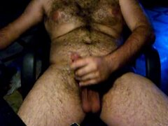 Hairy war shoots a load