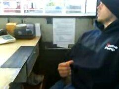 Cute Redneck Jerking Off At Work
