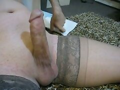 Medyas comes on Brown Stay-up Stockings