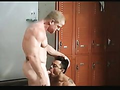 Muscled gay stud gets his ass drilled