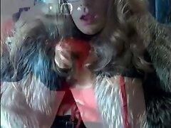 Transvestite Goddess in fur