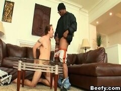 Black Guy Fucks Beefy Gay with Big Dick