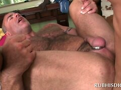 Insatiable masseur lusting for cock in his gay ass