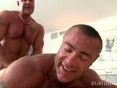 Lustful gay masseur having his ass hole fucked good