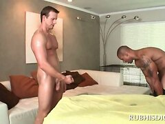 Straight horny dude ends up fucking his gay masseur