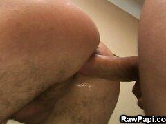 Muscular Hunk Getting Fucked Bareback In A Locker Room