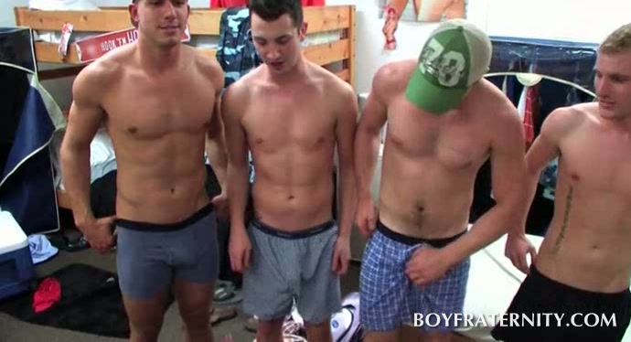 Naked Straight Teens Give Handjobs In Gay Fraternity Group