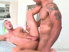 Gay masseur fucking straight male ass