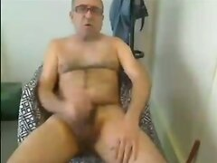 Grandpa wank on webcam