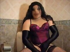crossdresser in pantyhose encasement