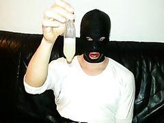 Cum Filled Condom 10, Cumshot, Semen, Bukkake, Mask, Latex