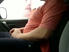 parking in a stranger looks at me and touch my cock p.2