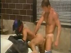 Young biker fucked and fisted by dude.