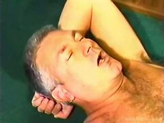 Silver fox and lover suck