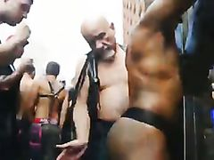 White master punishes Black slave in public