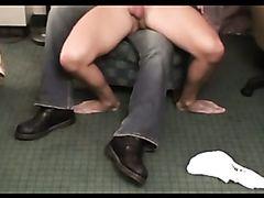 Jerked on Daddys lap