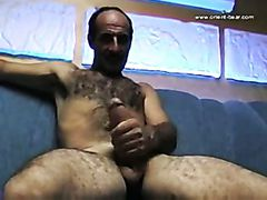 Hot Hairy Turkish Daddy Jacks Off Solo