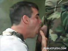 Gay Retro Military Discipline And Obedience