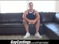 GayCastings uncut guido takes cock for first time