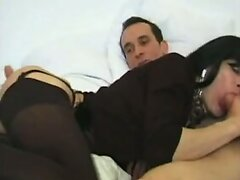 FRENCH TRANS 2 brunette anal trans hardcore