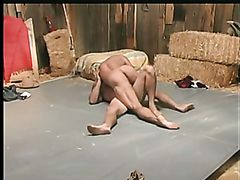 ranch hand wrestling (Paul Carrigan and Mike Roberts)