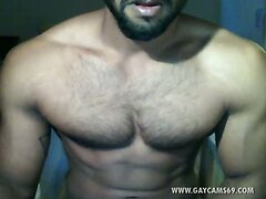 Hot Turkish Muscled Jerking  Live!
