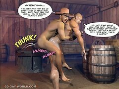 HOW WEST WAS HUNG 3D Gay Cowboys Cartoon Anime Comics Hentai