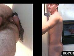 Straight dude fucks gay tight butt on gloryhole