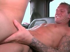 Teen gay boy riding giant hard cock in his tight ass hole