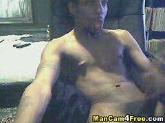 Black Guy Masturbates His Monster Cock