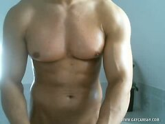 Muscled Perfect Body Straight Guy