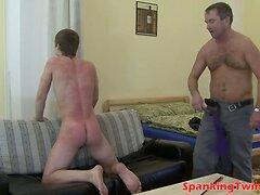 Savage flogging for pretty gay boy