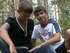 Gay teen boys lusty strolling