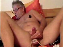 Kinky mature CBT balls tied nipple pumper silver cam dad