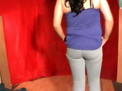 Crossdresser Posing Blue Jeans