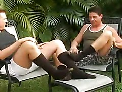Two Guys Having Fun In OTCs Outside