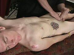 Skinny massage client blowjob