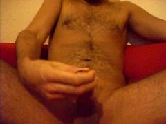 Hairy guy homemade cum video