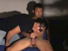 Str8 Asian jock gets milked
